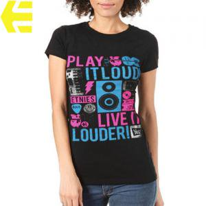 【エトニーズ ETNIES レディース Tシャツ】LIVE IT WOMENS【ブラック】NO20
