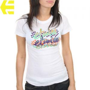 【エトニーズ ETNIES レディース Tシャツ】HUMMINGBIRD WOMENS【ホワイト】NO21