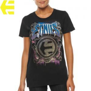 【エトニーズ ETNIES レディース Tシャツ】CLUTCH BASIC WOMENS【ブラック】NO25