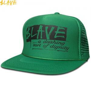 【スレイブ SLAVE スケボー キャップ】DIGNITY MESH SNAPBACK CAP【グリーン】NO3