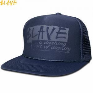 【スレイブ SLAVE スケボー キャップ】DIGNITY MESH SNAPBACK CAP【ネイビー】NO4