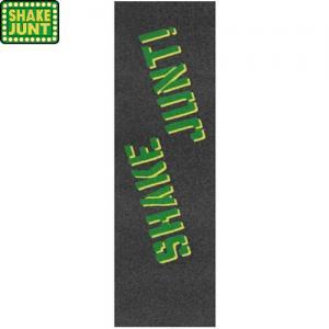 【シェイクジャント SHAKE JUNT スケボー デッキテープ】GRIP TAPE【ブラック x グリーン】NO1