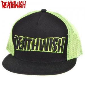 【デスウィッシュ DEATHWISH キャップ】Death Spray Thrash Trucker【ブラック x ネオンイエロー】NO07