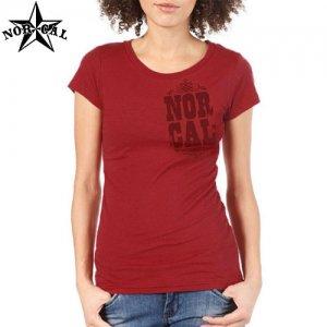 【ノーカル NORCAL レディース Tシャツ】BLACKJACK FINE JERSEY TEE【バーガンディ】NO1