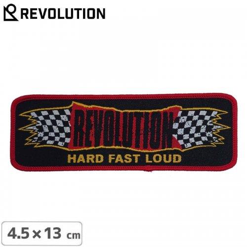 【Revolution レボリューション スケボー ワッペン】HARD FAST LOUD【4.5cm x 13cm】NO01