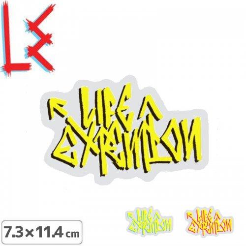【エルイー LE ステッカー】LOGO【3色】【7.3cm x 11.4cm】NO4
