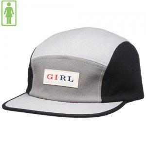 【GIRL SKATEBOARD ガールスケートボード キャップ】Classic Tri-Tone 5Panel Hat【グレー x ブラック】NO60