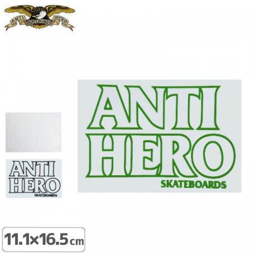 【アンタイヒーロー ANTIHERO スケボー ステッカー】BLACK HERO 3色【10.5cm x 15.1cm】NO23
