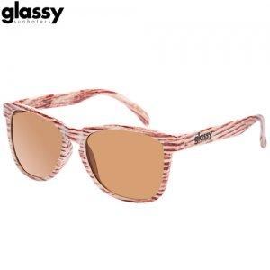 【グラッシーサンハッターズ GLASSY SUNHATERS サングラス】Deric Sunglasses【ライトウッド】NO08