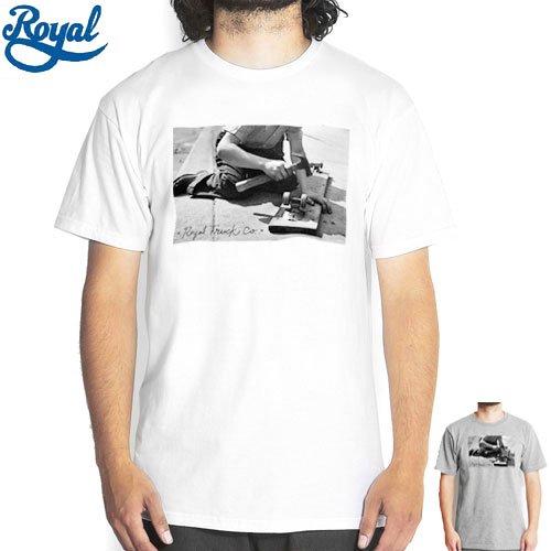 【ロイヤル ROYAL スケボー Tシャツ】VINTAGE TEE【ホワイト】【ブラック】NO30