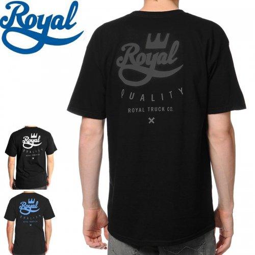 【ロイヤル ROYAL スケボー Tシャツ】CROWN CREST TEE【ブラック×ブラック】【ブラック×ホワイト】【ブラック×ブルー】NO32