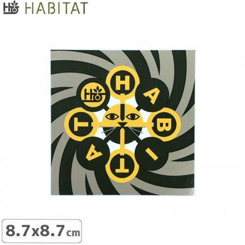 【HABITAT ハビタット ステッカー】TRIP CAT STICKER【8.7cm x 8.7cm】NO21