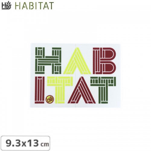 【HABITAT ハビタット ステッカー】LINEOTYPE STICKER【9.3cm x 13cm】NO23