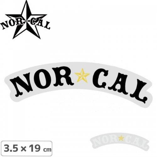 【ノーカル NOR CAL ステッカー】NAUTICAL STICKER【2色】【3.5cm x 19cm】NO15