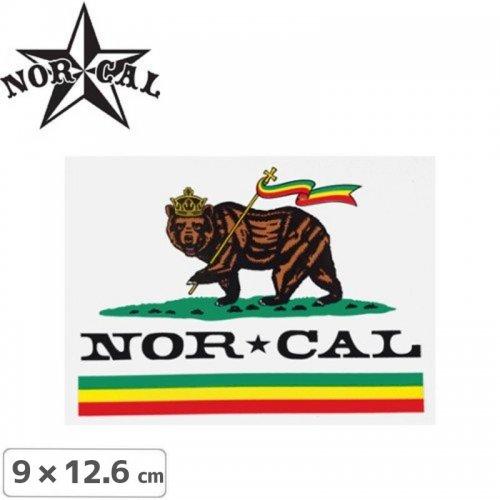 【ノーカル NOR CAL ステッカー】RUDE BEAR STICKER【9cm x 12.6cm】NO19