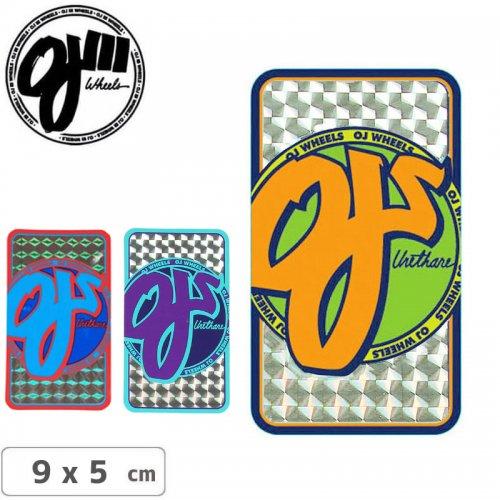【オージェイ OJ3 スケボー ステッカー】PRISMATIC【3色】【5cm×9cm】NO13