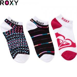 【ロキシー ROXY ソックス】SUN TIME SOCKS【レディースソックス】【3足セット】NO04