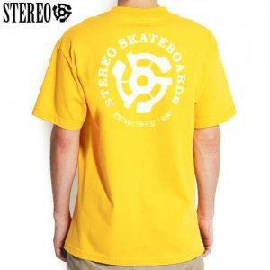 【ステレオ STEREO スケボー Tシャツ】STEREO EST 92 TEE【イエロー】NO11