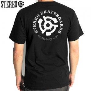 【ステレオ STEREO スケボー Tシャツ】STEREO EST 92 TEE【ブラック】NO16