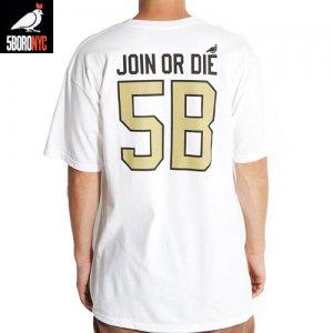 【ファイブボロ 5BORO スケボー Tシャツ】STADIUM TEE【ホワイト】NO1