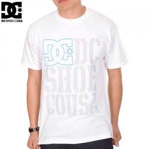 【DC ディーシーシューズ スケボー Tシャツ】RD USA LIGHT STACKED【ホワイト】NO8
