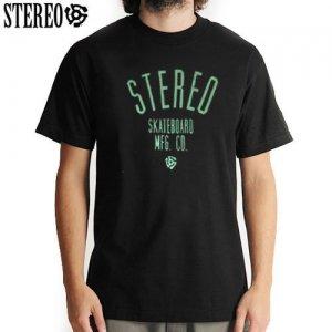 【ステレオ STEREO スケボー Tシャツ】STEREO SOUND LOGO TEE【ブラック】NO21