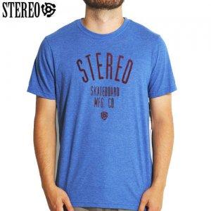 【ステレオ STEREO スケボー Tシャツ】STEREO SOUND LOGO TEE【ブルー】NO25