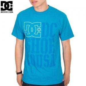 【DC ディーシーシューズ スケボー Tシャツ】RD USA LIGHT STACKED【ターコイズ】NO11