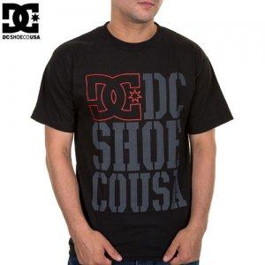 【DC ディーシーシューズ スケボー Tシャツ】RD USA LIGHT STACKED【ブラック】NO13