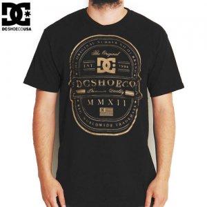 【DC ディーシーシューズ スケボー Tシャツ】RD LUX LABEL TEE【ブラック x ゴールド】NO17