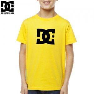 【DC ディーシーシューズ ユース Tシャツ】STAR BIG YOUTH TEE【イエロー】NO2