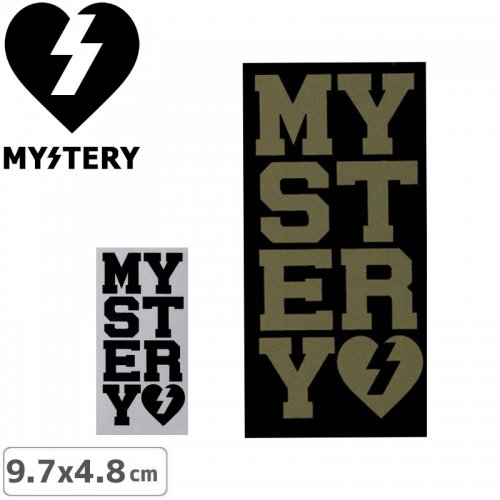 【ミステリー MYSTERY スケボー ステッカー】MYSTERY VARSITY STICKER【2色】【9.7cm x 4.8cm】NO33