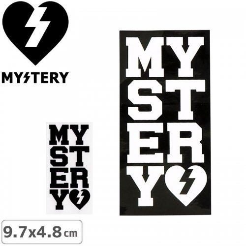 【ミステリー MYSTERY スケボー ステッカー】MYSTERY VARSITY STICKER【2色】【9.7cm x 4.8cm】NO34