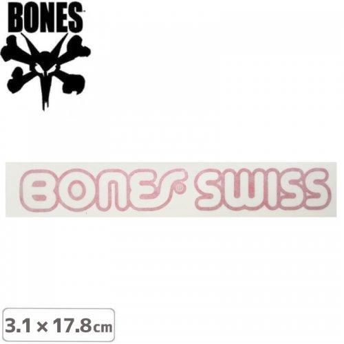 【ボーンズ BONES スケボー ステッカー】SWISS TYPE CUTTING STICKER【3.1cm x 17.8cm】NO30