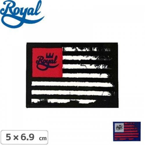 【ROYAL TRUCK ロイヤル ステッカー】FLAG STICKER【2色】【5cm x 6.9cm】NO29