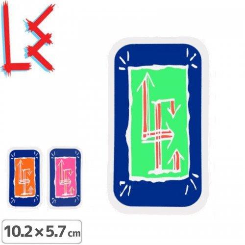 【エルイー LE SKATEBOARDS ステッカー】GLYPH STICKER【3色】【10.2cm x 5.7cm】NO14