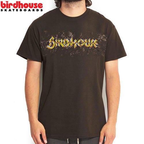 SALE! 【BIRDHOUSE バードハウス スケボー Tシャツ】BEVEL TEE【ブラウン】【トニーホーク】NO14