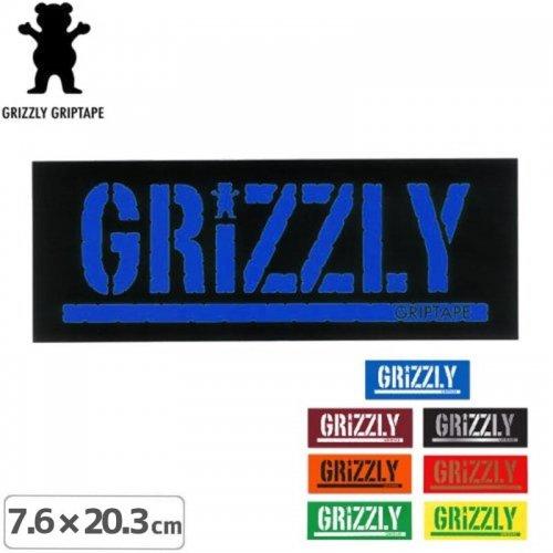 【グリズリー GRIZZLY ステッカー】GRIZZLY STAMP LOGO STICKER【8色】【7.6cm × 20.3cm】NO17