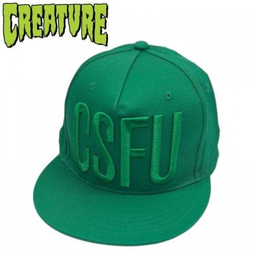 【クリーチャー CREATURE スケボー キャップ】CSFU BLOCK ADJUSTABLE TWILL HAT【グリーン】NO34