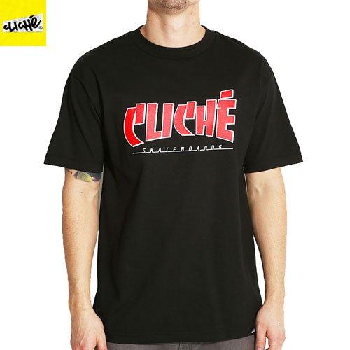 【クリシェ CLICHE スケボー Tシャツ】CLICHE BANCO TEE【ブラック】NO19
