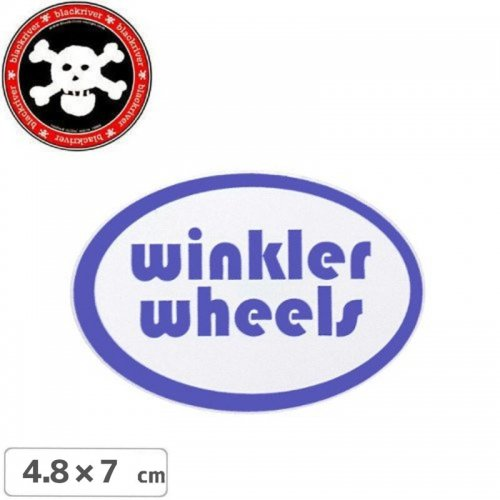【BLACKRIVER ステッカー】WINKLER WHEELS STICKER【4.8cm x 7cm】NO5