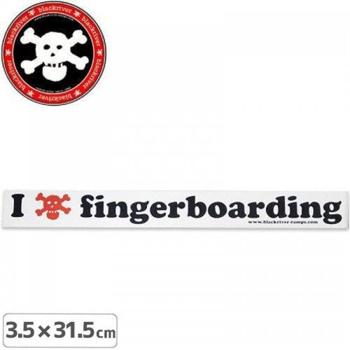 【BLACKRIVER ステッカー】I LOVE FINGERBOARDING STICKER【3.5cm x 31.5cm】NO9