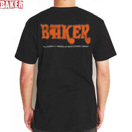 SALE! 【BAKER ベーカー スケボー Tシャツ】AMPED PREMIUM TEE【ブラック】NO43