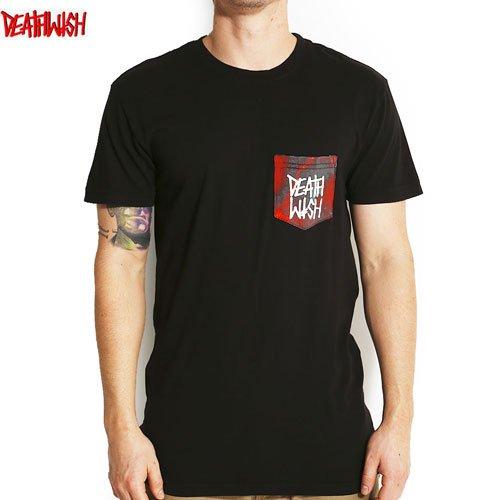 SALE! 【デスウィッシュ DEATHWISH Tシャツ】DEATHSTACK MARBLE POCKET TEE【ブラック x レッド タイダイ】NO15
