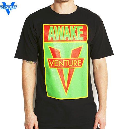 【ベンチャー VENTURE TRUCKS スケボー Tシャツ】OG AWAKE IRIE TEE【ブラック】NO24