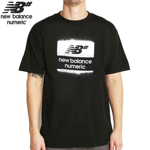 【NEW BALANCE NUMERIC ニューバランス ナメリック Tシャツ】OVERSPRAY TEE【ブラック】NO5