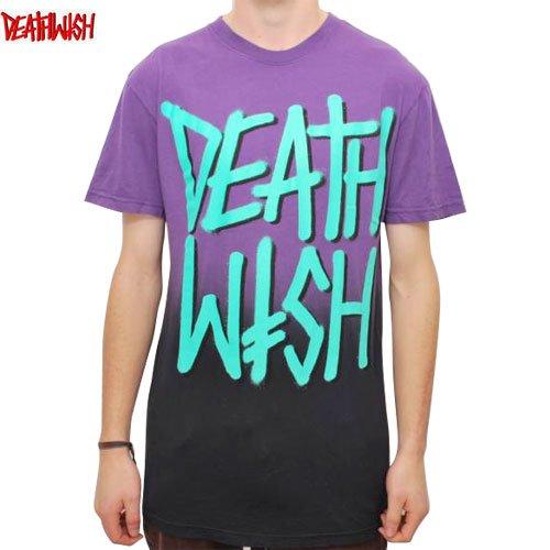 【デスウィッシュ DEATHWISH スケボーTシャツ】DEATHSTACK FADED【パープル x ブラック】NO22