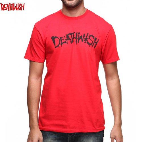【デスウィッシュ DEATHWISH スケボー Tシャツ】STREET SPRAY TEE【レッド】NO28