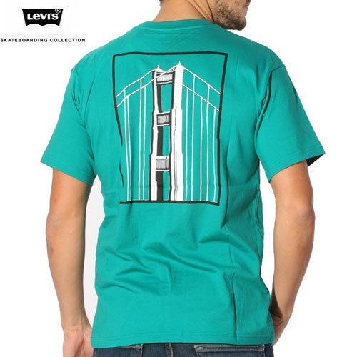 【LEVI'S SKATEBOARDING リーバイス Tシャツ】THRASHER PHOTO TEE【グリーン】NO2