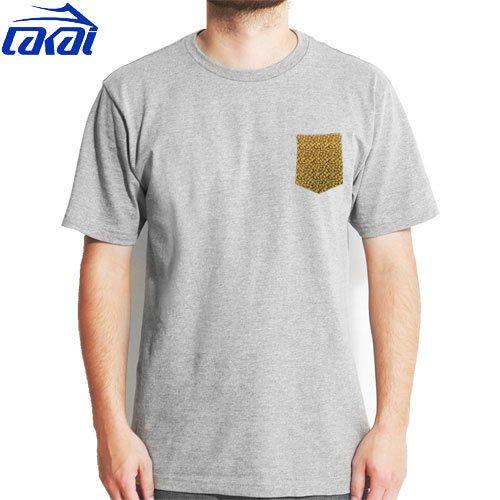 【LAKAI ラカイ スケボー Tシャツ】LAKAI JUDO POCKET TEE【グレー】NO20